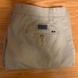Nautica Flat Front Khaki Shorts Size 34